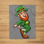 Leprechaun Shoot Dance St. Patrick's Day Fleece Blanket