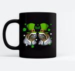 Leprechaun Sloth St Patricks Day Sloth Lover Gifts Black Mugs