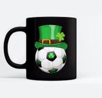 Leprechaun Soccer Funny St.Patrick's Day Kids Gift Black Mugs