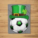 Leprechaun Soccer Funny St.Patrick's Day Kids Gift Fleece Blanket