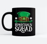 Leprechaun Squad St Patricks Day Boys Kids Men Costume Gifts Black Mugs