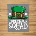 Leprechaun Squad St Patricks Day Boys Kids Men Costume Gifts Fleece Blanket
