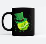 Leprechaun Tennis St Patrick's Day Irish Gift Black Mugs