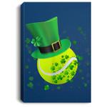 Leprechaun Tennis St Patrick's Day Irish Gift Portrait Canvas