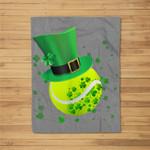 Leprechaun Tennis St Patrick's Day Irish Gift Fleece Blanket