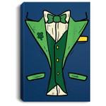 Leprechaun Tuxedo Patricks Day DIY Irish Halloween Costume Portrait Canvas