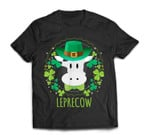 Leprecow Leprechaun Cow Clover Irish Farmer St Patricks Day T-Shirt