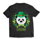 Leprepan Leprechaun Panda Clover Irish St Patricks Day T-Shirt