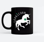 Lepricorn - Funny St Patricks Day Unicorn Black Mugs