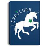 Lepricorn - Funny St Patricks Day Unicorn Portrait Canvas