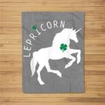 Lepricorn - Funny St Patricks Day Unicorn Fleece Blanket