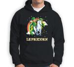 Lepricorn Leprechaun Riding Unicorn St Patricks Day Sweatshirt & Hoodie