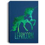 Lepricorn Leprechaun Unicorn St Patricks Day Girls Kid Portrait Canvas