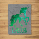 Lepricorn Leprechaun Unicorn St Patricks Day Girls Kid Fleece Blanket