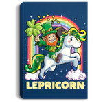 Lepricorn Leprechaun Unicorn St Patricks Day Girls Portrait Canvas