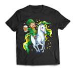 Lepricorn Leprechaun Unicorn St Patricks Day Women Men Beer T-Shirt