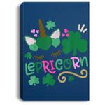 Lepricorn St Patrick's Day Funny Unicorn Leprechaun Portrait Canvas