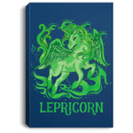 Lepricorn St Patricks Day Irish Green Unicorn lovers Portrait Canvas