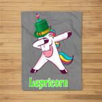 Lepricorn Unicorn Leprechaun St. Patrick's Day Gift Fleece Blanket