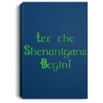 Let the Shenanigans Begin Men Women St Patrick's Day Portrait Canvas