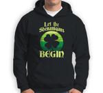 Let The Shenanigans Begin Retro Shamrock Fun St Patricks Day Sweatshirt & Hoodie
