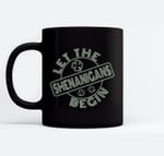 Let The Shenanigans Begin Retro Style St Patricks Day Black Mugs