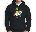 Leprechaun Pug Dog Riding Unicorn St Patricks Day Sweatshirt & Hoodie