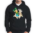 Leprechaun Riding Llama St. Patrick's Day Elf Funny Gift Sweatshirt & Hoodie
