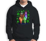 Leprechaun Sloth Riding Llama Unicorn St Patricks Day Sweatshirt & Hoodie