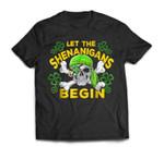 Let The Shenanigans Begin-Pirate Skull St Patricks day T-Shirt