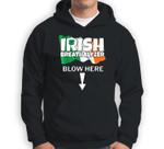 Irish Breathalyzer Blow Here Irish Flag St. Patricks Day Gag Sweatshirt & Hoodie
