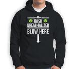 Irish Breathalyzer Blow Here St Patricks Day design Sweatshirt & Hoodie