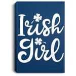 Irish Girl St Patricks Day Women Kids Shamrock Clover Gifts Portrait Canvas