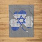 Irish Jewish Shamrock St Patricks Day Fleece Blanket