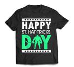 St Patricks Day Ice Hockey Happy St Hat-tricks Day T-Shirt