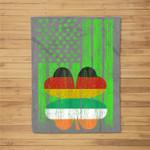 St Patricks Day Irish American Flag - Irish German Flag Gift Fleece Blanket