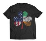 St Patricks Day Irish American Flag Shamrock Gift St. Paddys T-Shirt