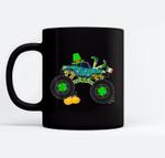 St Patrick's Day Monster Truck Lover Irish Shamrock Boy Kids Black Mugs