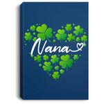 St Patricks Day Nana for Women Nana Gifts for Grandma Portrait Canvas