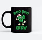 St Patricks Day Nurse Boo Boo Crew Green Lucky Gift Black Mugs