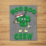 St Patricks Day Nurse Boo Boo Crew Green Lucky Gift Fleece Blanket