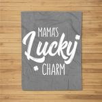 Kids St Patricks Day For Boys Girls Mama's Lucky Charm Fleece Blanket