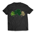St Patricks Day Shamrock Clover Leopard Plaid Gift T-Shirt