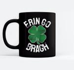 St Patricks Day Shamrock Erin Go Bragh Irish Saint Paddy's Baseball Black Mugs