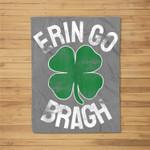 St Patricks Day Shamrock Erin Go Bragh Irish Saint Paddy's Fleece Blanket
