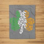 St Patricks Day shamrock Gaming Video Gamer kids boys men Fleece Blanket