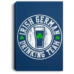 St Patricks Irish German Drinking Team for Men Women Portrait Canvas