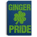 St. Patrick's Day Ginger Pride Shamrock Portrait Canvas