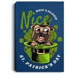 St. Patricks Day Irish Pug Portrait Canvas