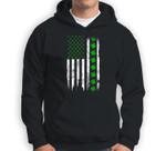 St. Patrick's Day Green IRISH American USA Flag Shamrock Sweatshirt & Hoodie